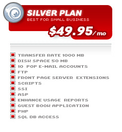 Canadian Hosters Silver Plan Details